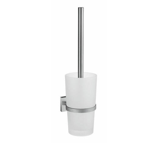 WC SADA - bílá/barvy chromu, Basics, kov/umělá hmota (11,0/41,0/10,8cm)