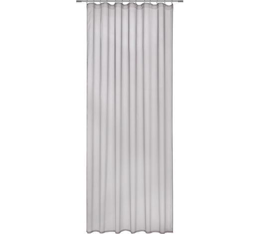 FERTIGVORHANG transparent - Silberfarben, Design, Textil (135/255cm) - Novel
