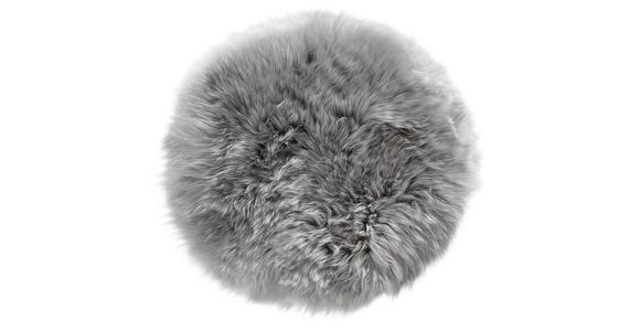 SITZKISSEN   34 cm  - Silberfarben, KONVENTIONELL, Textil/Fell (34cm) - Esposa