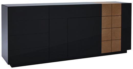 SIDEBOARD furniert lackiert Dunkelgrau, Eichefarben - Dunkelgrau/Eichefarben, Design, Holzwerkstoff (210/86/47cm) - Ambiente