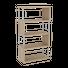 REGAL Eichefarben, Alufarben  - Eichefarben/Alufarben, Basics, Metall (66/126/33cm) - Xora