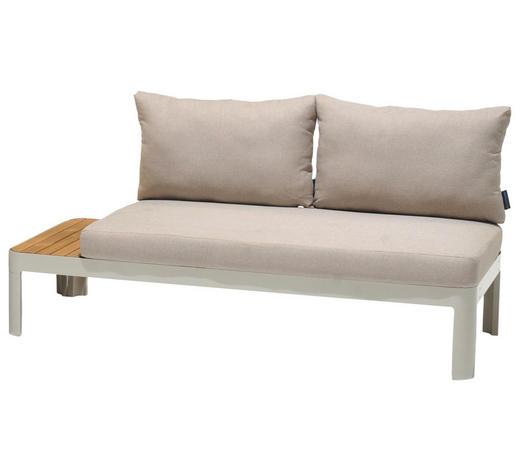 LOUNGESOFA 172,20/73,05/77,70 cm - Beige/Weiß, Design, Holz/Textil (172,20/73,05/77,70cm) - Amatio