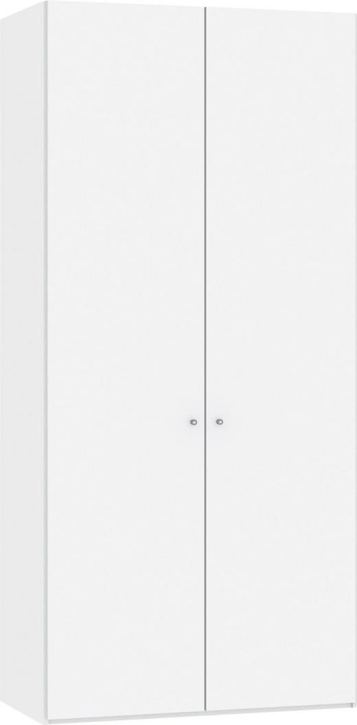DREHTÜRENSCHRANK 2-türig Weiß - Silberfarben/Weiß, Design, Glas/Metall (101,9/220/37,5cm) - Jutzler