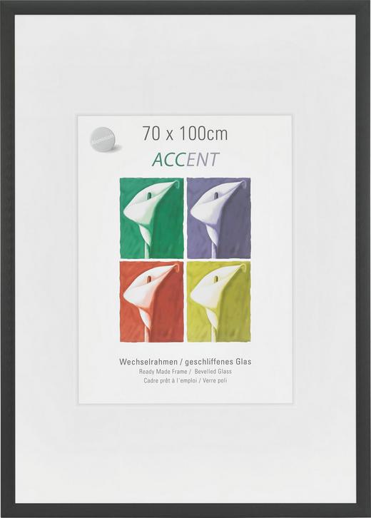 BILDERRAHMEN  Schwarz - Schwarz, Metall (70/100cm)