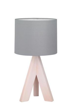 BORDSLAMPA - grå, Lifestyle, trä/textil (17/31cm) - Boxxx