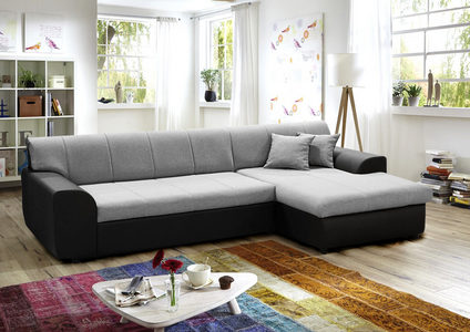 GARNITURA ZA DNEVNU SOBU - Crna/Siva, Dizajnerski, Tekstil/Plastika (280/150cm) - Boxxx