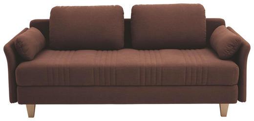 LIEGE in Textil Braun - Braun, Design, Holz/Textil (220/98/96cm) - Joka