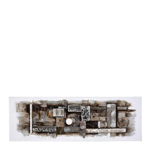 Strukturen ÖLGEMÄLDE - Multicolor, Design, Holz/Textil (60/180cm) - Monee