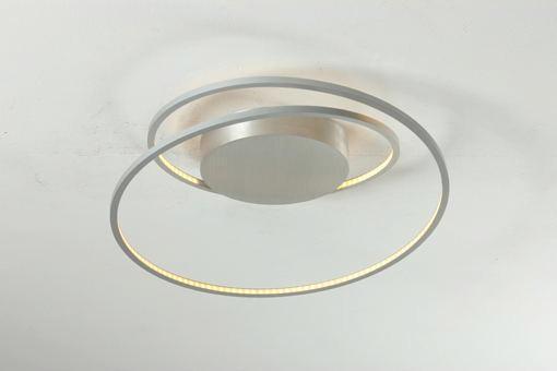LED-DECKENLEUCHTE - Alufarben, Design, Metall (45/30cm)