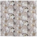 TISCHDECKE 85/85 cm   - Creme/Braun, LIFESTYLE, Textil (85/85cm) - Landscape