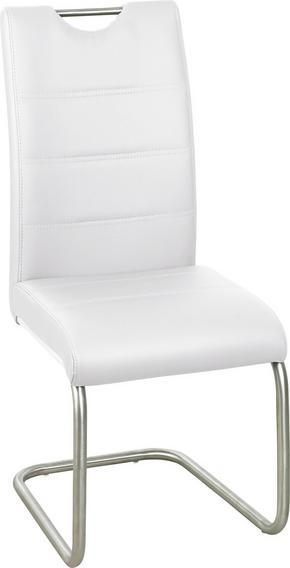 SVIKTSTOL - vit/rostfritt stål-färgad, Design, metall/textil (43/98/58cm) - Xora