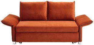 SCHLAFSOFA Flachgewebe Orange  - Chromfarben/Orange, KONVENTIONELL, Textil (176/205/81/46/98cm) - Xora