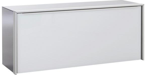 GARDEROBENBANK 102/44/33,5 cm - Alufarben/Weiß, Design, Glas/Metall (102/44/33,5cm) - Dieter Knoll