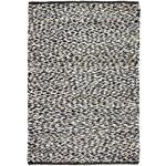 HANDWEBTEPPICH  130/200 cm  Schwarz, Weiß   - Schwarz/Weiß, Basics, Textil (130/200cm) - Linea Natura