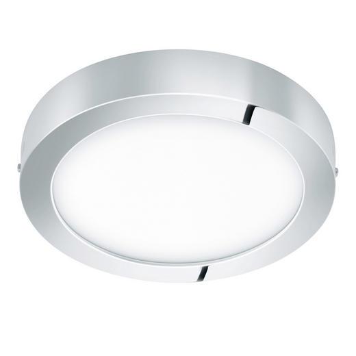 AUFBAULEUCHTE - Chromfarben, Design, Kunststoff/Metall (30/4cm)