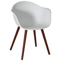 GARTENSESSEL Eukalyptusholz massiv - Naturfarben/Weiß, Design, Holz/Kunststoff (52/81/58cm) - AMBIA GARDEN