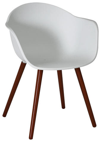 GARTENSESSEL Eukalyptusholz Naturfarben, Weiß - Naturfarben/Weiß, Design, Holz/Kunststoff (52/81/58cm) - Ambia Garden