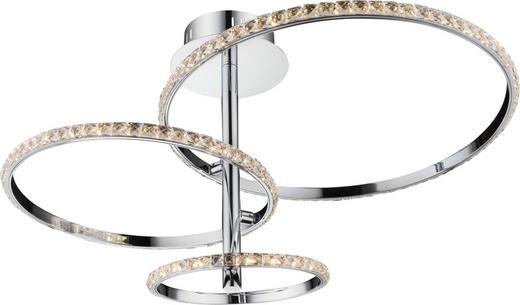 LED-DECKENLEUCHTE - Chromfarben/Transparent, LIFESTYLE, Glas/Metall (45/41cm) - Ambiente