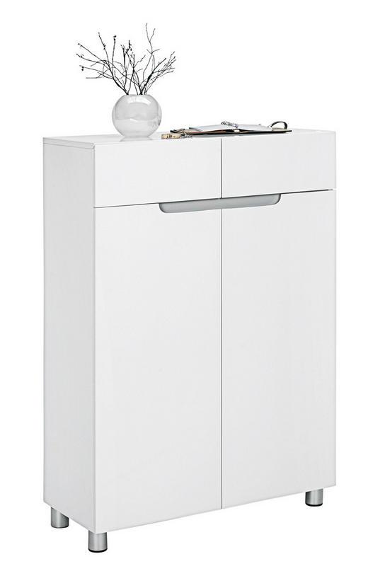 SCHUHSCHRANK Hochglanz, lackiert Grau, Weiß - Weiß/Grau, Design (76/105/31cm) - Xora