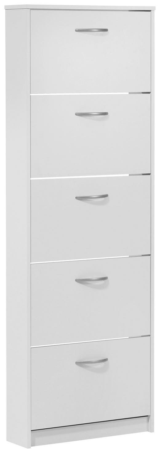SCHUHKIPPER melaminharzbeschichtet Weiß - Silberfarben/Weiß, Design, Kunststoff (58.5/168.5/17cm) - CARRYHOME