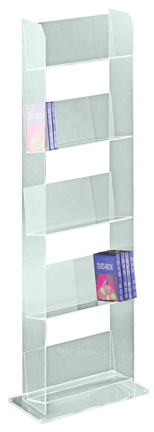 CD-STÄNDER Transparent - Transparent, Design, Kunststoff (44/103/22cm)
