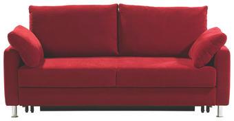 SCHLAFSOFA Rot - Chromfarben/Rot, Design, Textil/Metall (184/90/95cm) - BALI