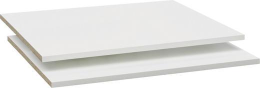 EINLEGEBODENSET 2-teilig Weiß - Weiß, Design (73/1,5/50cm) - Cs Schmal