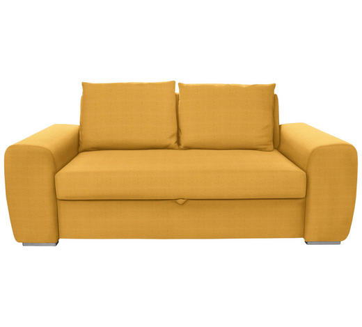 SCHLAFSOFA in Textil Gelb - Chromfarben/Gelb, Design, Holz/Textil (199/92/97cm) - Hom`in