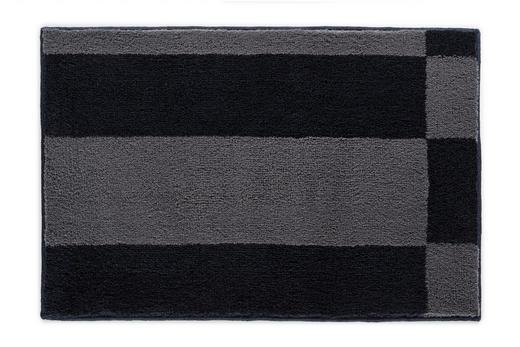 BADTEPPICH  Anthrazit, Dunkelgrau, Grau  60/90 cm - Dunkelgrau/Anthrazit, Basics, Kunststoff/Textil (60/90cm) - Joop!