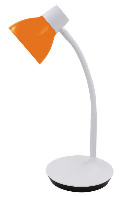 LED-SCHREIBTISCHLEUCHTE - Weiß/Orange, KONVENTIONELL, Kunststoff/Metall (45cm) - Boxxx