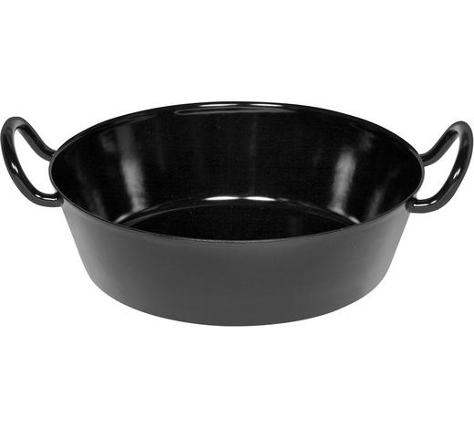 PFANNE 30 cm - Schwarz, Basics, Metall (30cm) - Riess