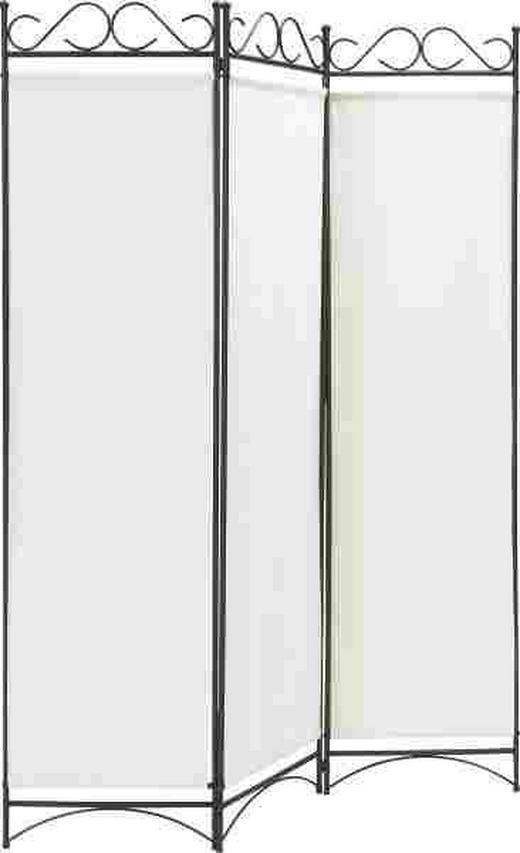 PARAVENT Metall, Textil Schwarz, Weiß - Schwarz/Weiß, LIFESTYLE, Textil/Metall (135/176cm) - LANDSCAPE