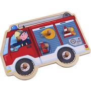 Greifpuzzle Feuerwehrauto - Basics, Holz (30/21cm) - Haba