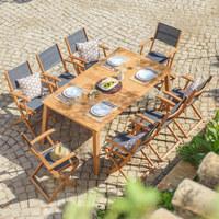 STOL VRTNI - prirodne boje, Design, drvo (180(240)/100/74cm) - Ambia Garden