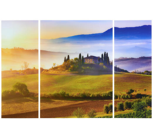BILDERSET 3-teilig  - Multicolor, LIFESTYLE, Glas (120/80/5cm) - Eurographics