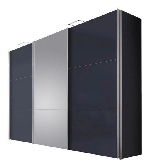 SCHWEBETÜRENSCHRANK 3-türig Graphitfarben - Graphitfarben, Design, Glas/Holzwerkstoff (300/216/68cm) - Hom`in