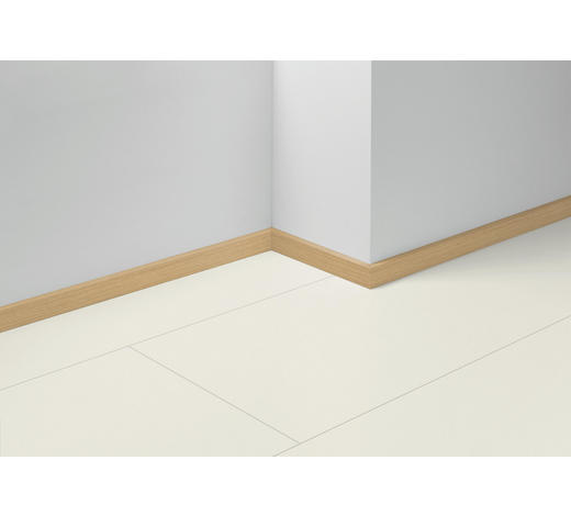 SOCKELLEISTE Gelb, Ahornfarben, Hellbraun - Hellbraun/Gelb, Basics, Holzwerkstoff (257/1,6/4cm) - Parador