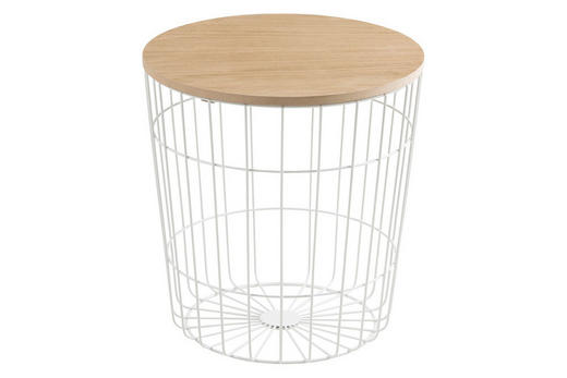 KLUB STOLIĆ - bijela/prirodne boje, Design, drvni materijal/metal (39/41cm) - Ti`me