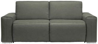SCHLAFSOFA Taupe - Taupe/Chromfarben, Design, Textil/Metall (210/90/102cm) - Dieter Knoll