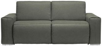 SCHLAFSOFA Taupe - Taupe/Chromfarben, Design, Textil/Metall (210/90/102cm) - DIETER KNOLL