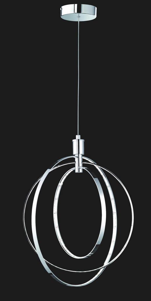LED-HÄNGELEUCHTE - Chromfarben, Design, Metall (44/50cm)