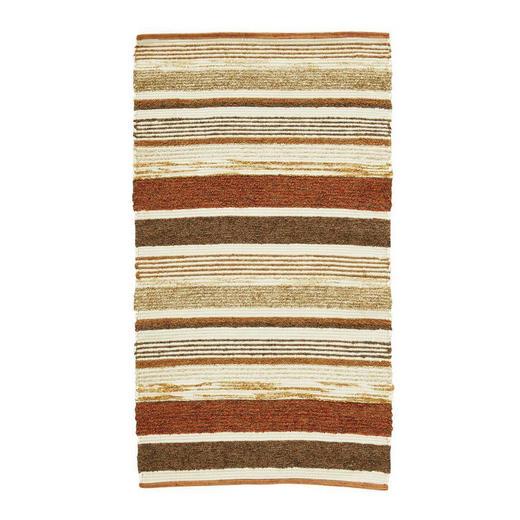 HANDWEBTEPPICH  60/110 cm  Beige, Orange - Beige/Orange, Basics, Textil (60/110cm) - Linea Natura