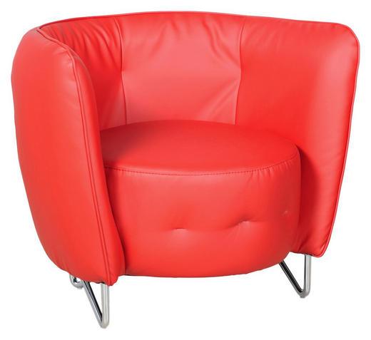 SESSEL in Textil Rot - Chromfarben/Rot, Design, Textil (83/66/69cm) - Carryhome