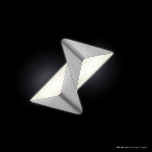 LED-DECKENLEUCHTE - Alufarben, Design, Metall (41,2/37,0/9,0cm)
