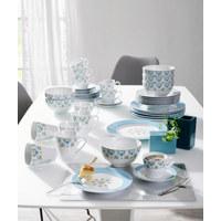 KOMBISERVICE 30-teilig - Blau/Rosa, Basics, Keramik - Ritzenhoff Breker