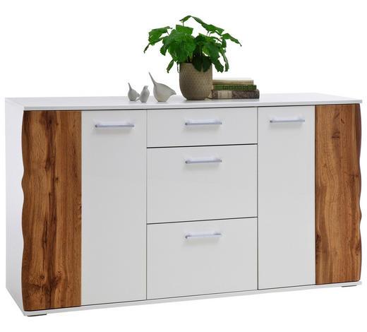 KOMMODE 154/86/44 cm - Chromfarben/Eichefarben, Design, Holzwerkstoff/Kunststoff (154/86/44cm) - Xora