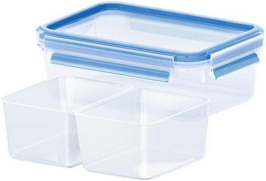 FRISCHHALTEDOSE 1,00 L - Blau/Transparent, Basics, Kunststoff (1l) - EMSA