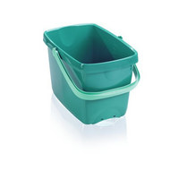 EINHÄNGEEIMER 12 L - Dunkelgrün, Basics, Kunststoff (1/1cm) - Leifheit