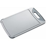 SCHNEIDEBRETT Kunststoff - Grau, Basics, Kunststoff (38/25/1,5cm) - SILIT