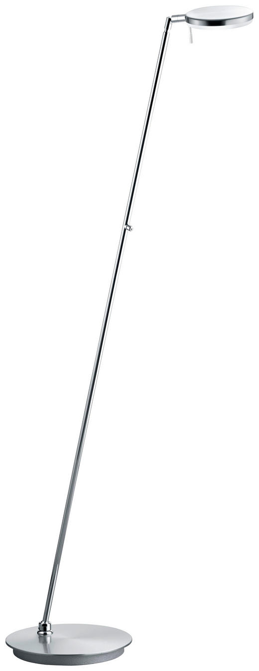 LED-STEHLEUCHTE - Nickelfarben, Design, Metall (140cm)